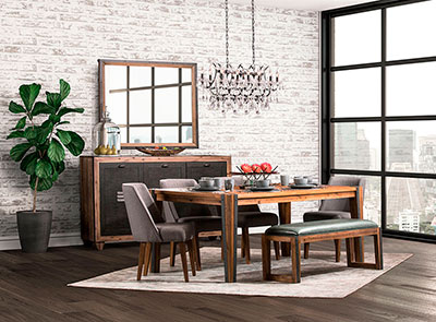 Brooklyn Walk Dining collection by AICO