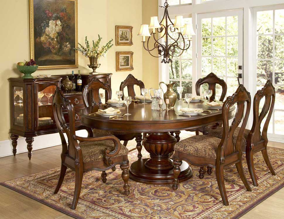 round table set he 1390 classic dining
