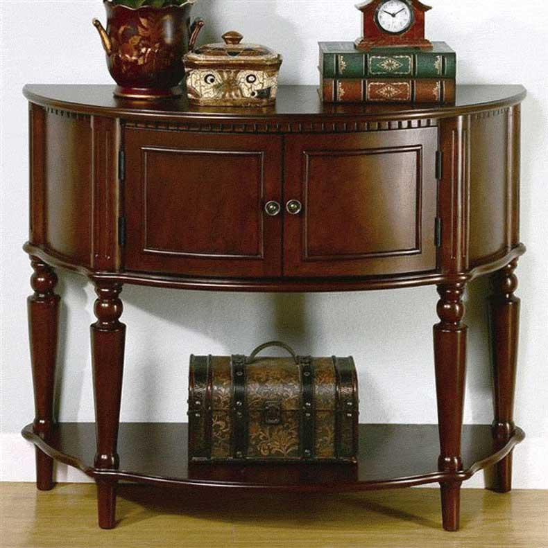 Console accent hall table co 059 hallway - Half table entryway ...