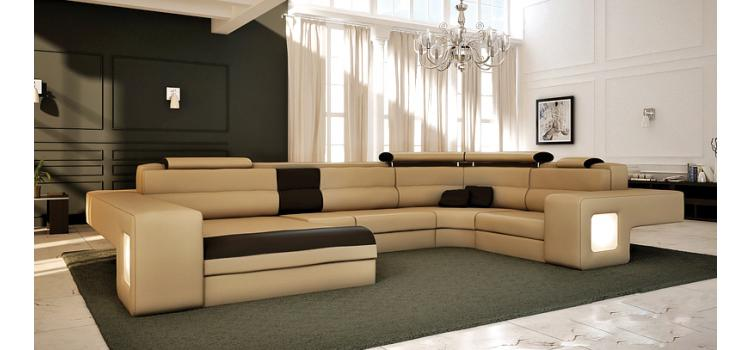 Italian Leather Sectional Sofa Vcal 04 : italian leather sectionals - Sectionals, Sofas & Couches
