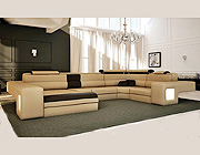 Italian Leather Sectional Sofa Vcal 04