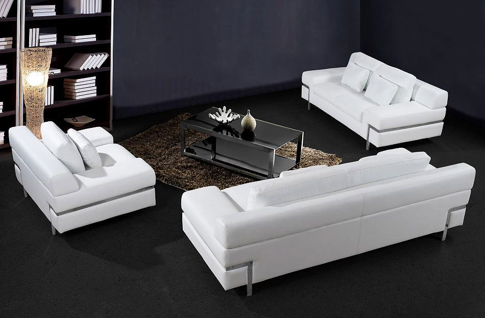Clif Sofa Set Leather Sofas