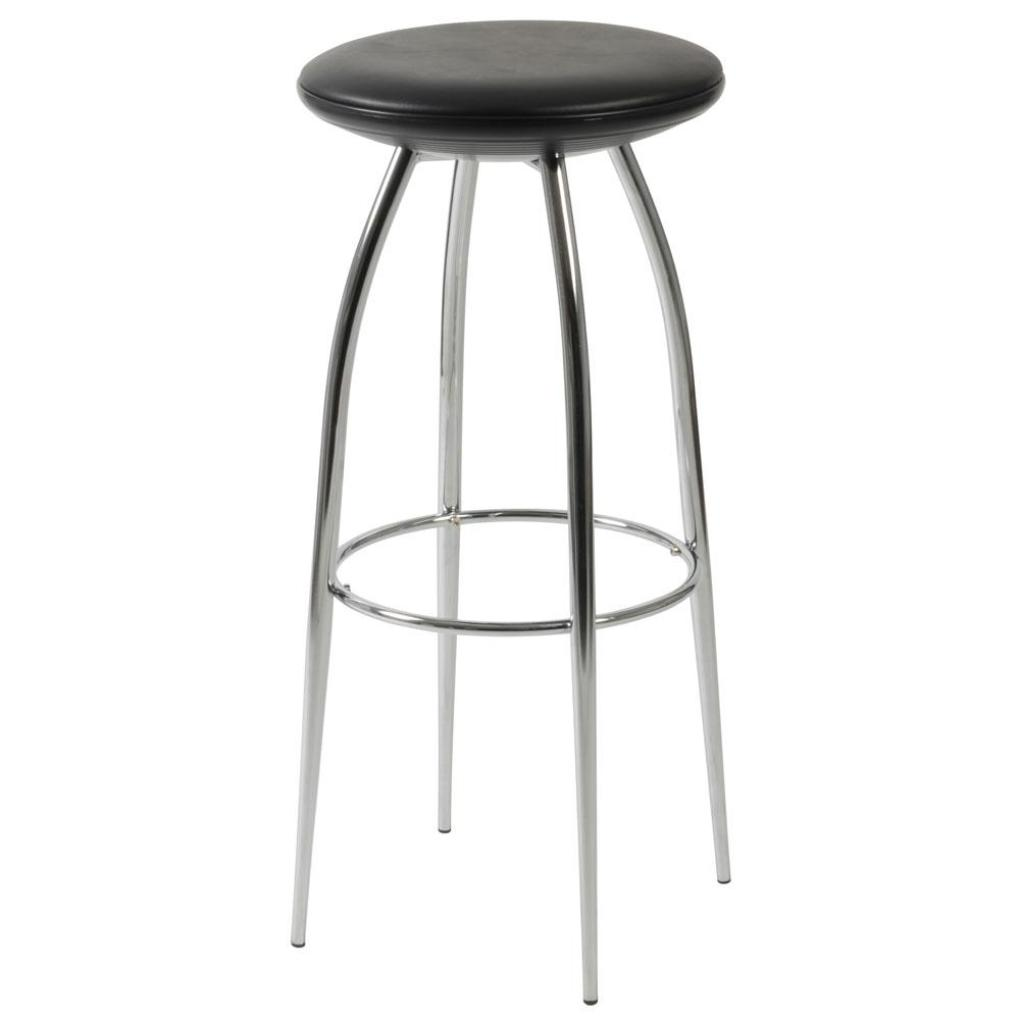 Bernie Bar Stool Black Chrome Bar Stools