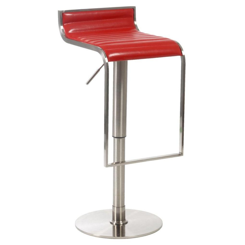 forest adjustable barcounter stool redsatin nickel  bar stools - forest adjustable barcounter stool redsatin nickel
