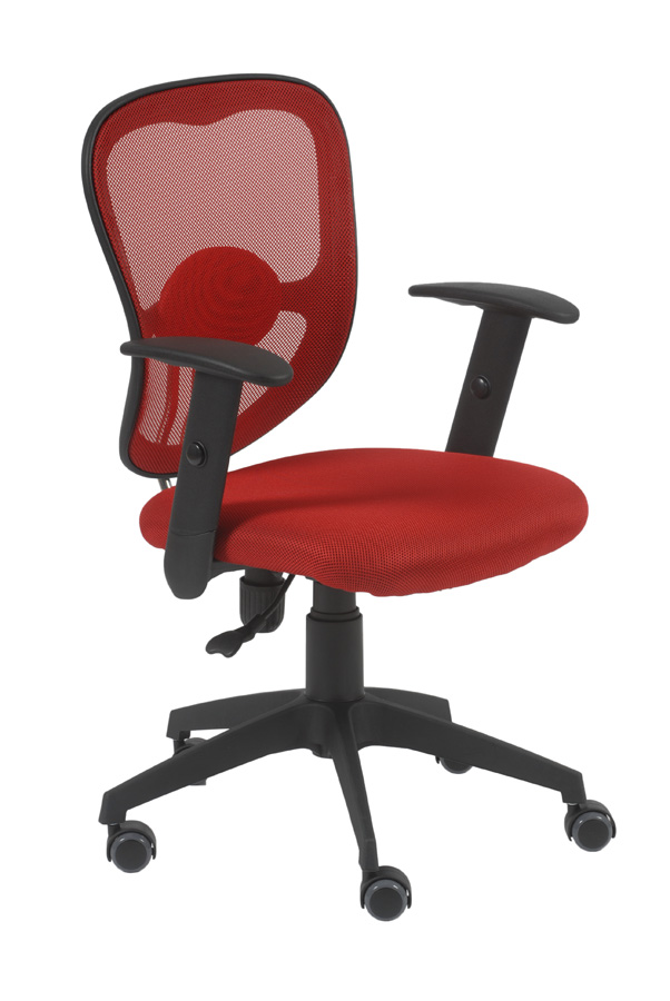 Quincy Red Swivel Office Chair Chairs