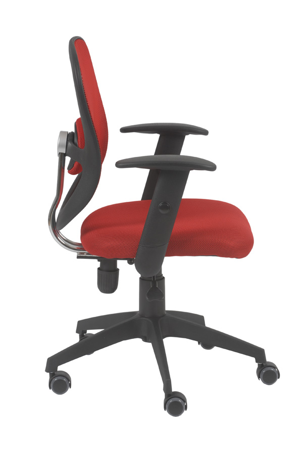 Quincy Red Swivel Office Chair Office Chairs