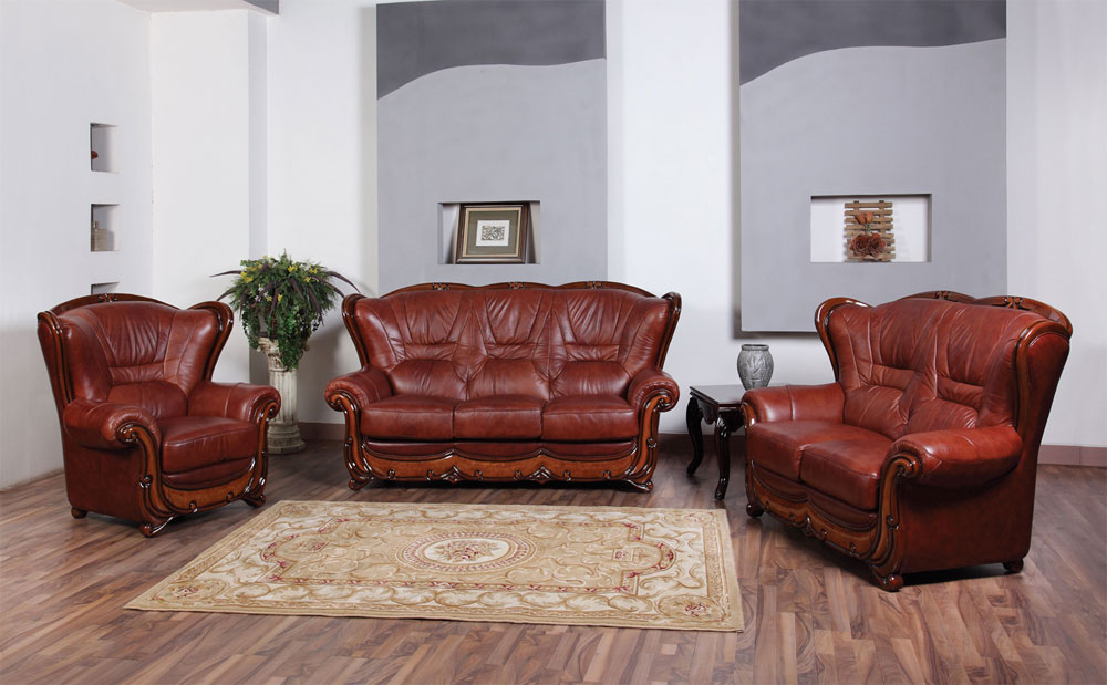 Classic sofa 110 traditional sofas for Traditional leather furniture