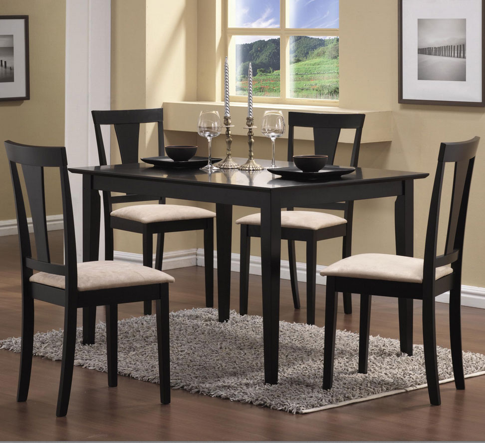 Black Dining Room Table And Chairs: Urban Transitional Dining