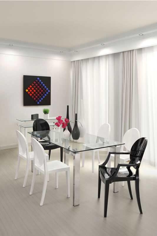 Z 142 Rozana Glass Top Dining Table Modern Dining