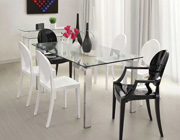 Z-142 Rozana Glass Top Dining Table