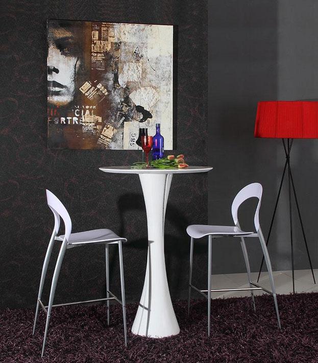 Modern Bar LED Gloss Bar Table