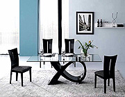 Alfa dining table Black Color CR
