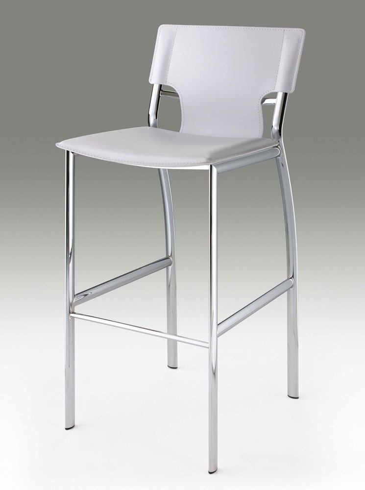 White Leather Bar Stool Cr121 Bar Stools