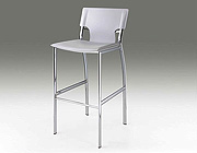 White leather bar stool CR121