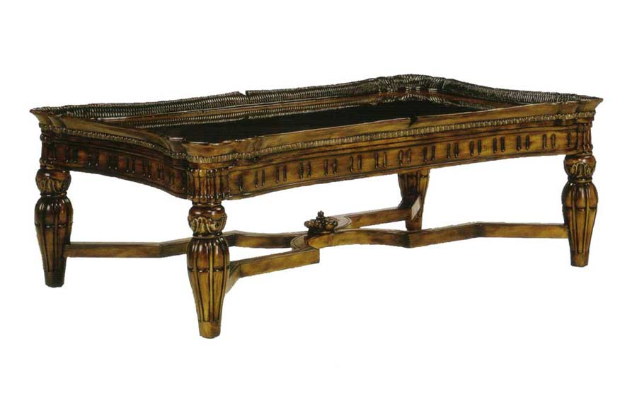 Bt 082 Classical Italian Coffee Table In Walnut Finish