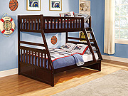 Dark Cherry Bunk Bed HE013