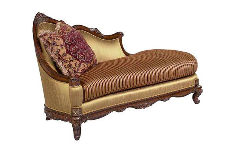 Bt 072 Traditional Mahogany Chaise Lounge Accent Seating