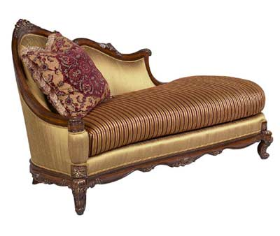 Bt 072 traditional mahogany chaise lounge accent seating for Accent chaise lounge