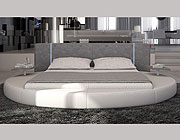 Mateo Round Bed with LED Lighting