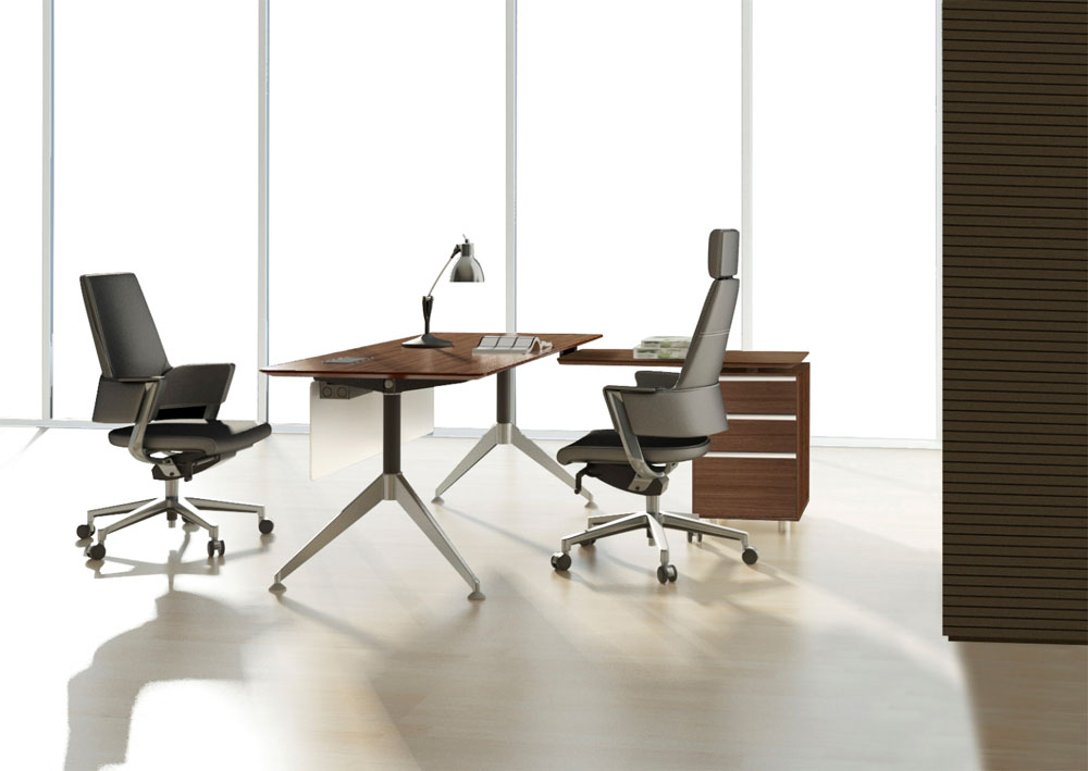 ... Unique Furniture 300 Collection Walnut Desk 302 ...