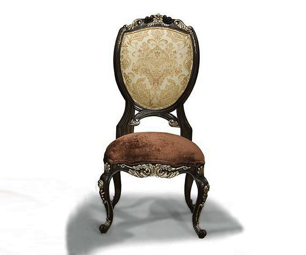 Classical Italian Side Chair In Antiqued Gold BT 299