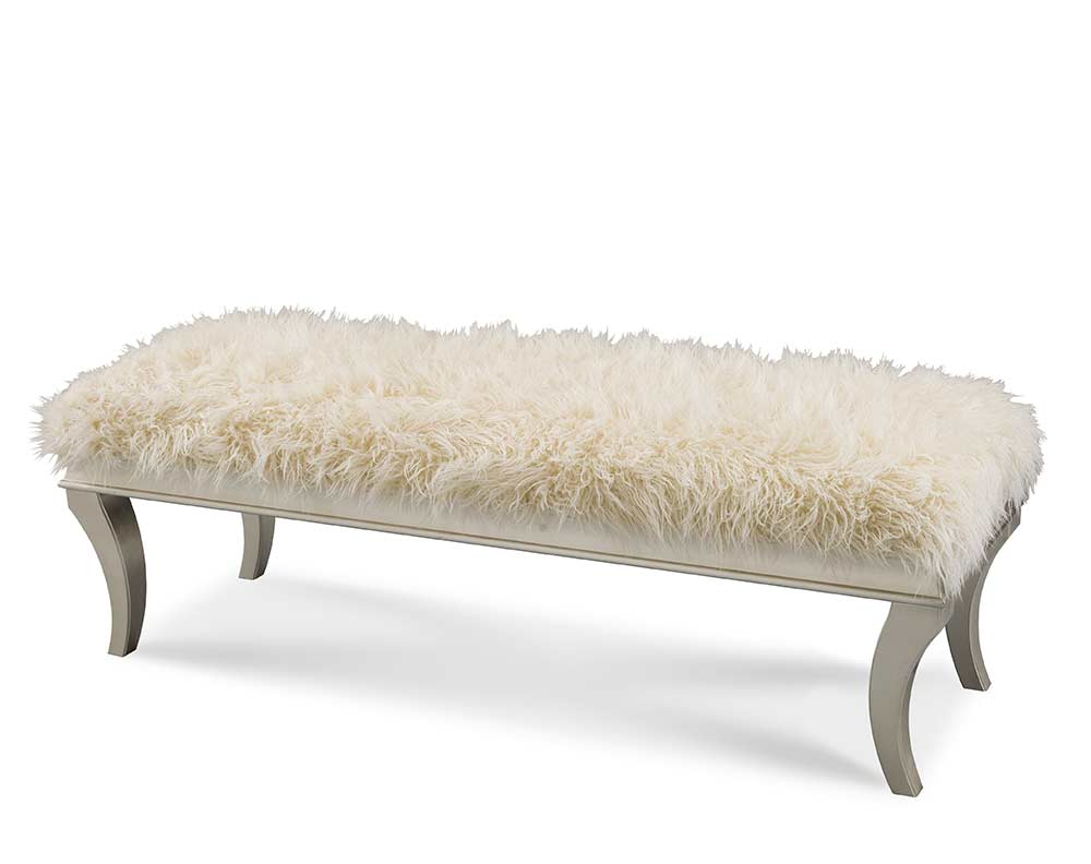 Hollywood swank bed bench by aico aico bedroom furniture Bed benches