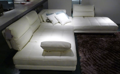 Terra Modern Sectional Sofa Leather Sectionals