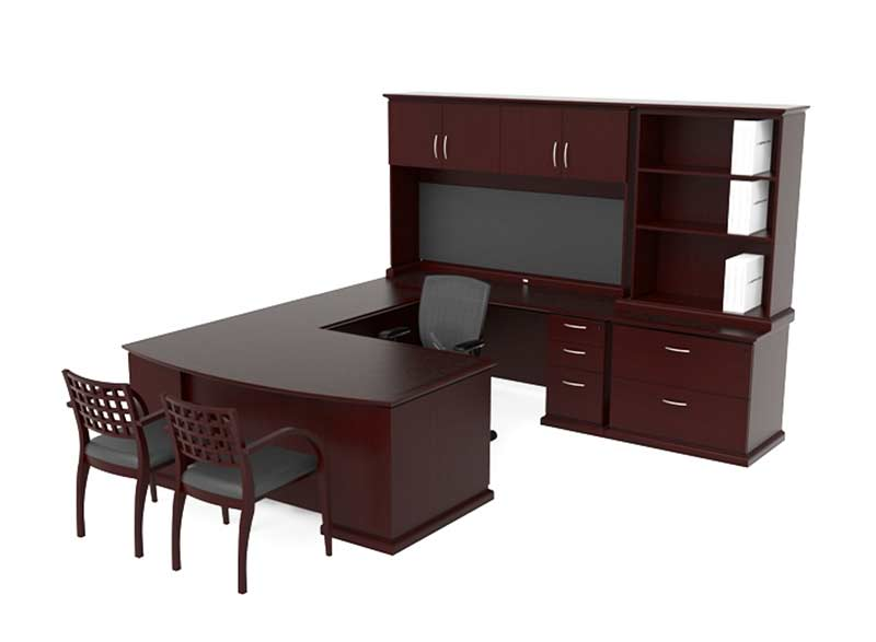 modern ushaped executive office suite che420