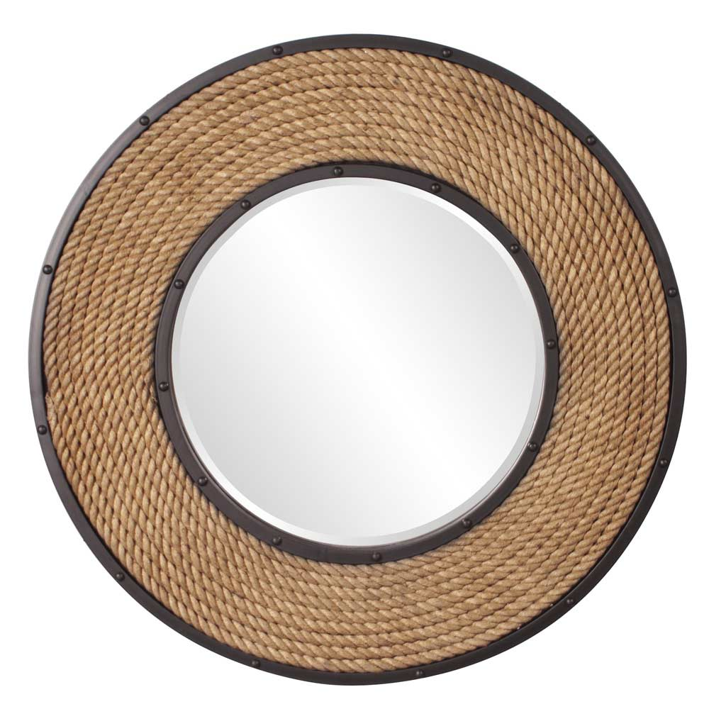 Transitional round designer wall mirror hre 248 accent for Accent mirrors
