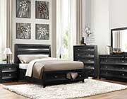 Kristen Black Contemporary bed HE 262