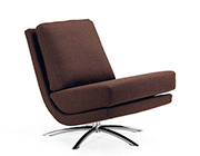 Fjords Breeze Swivel Fabric Chair in Brown
