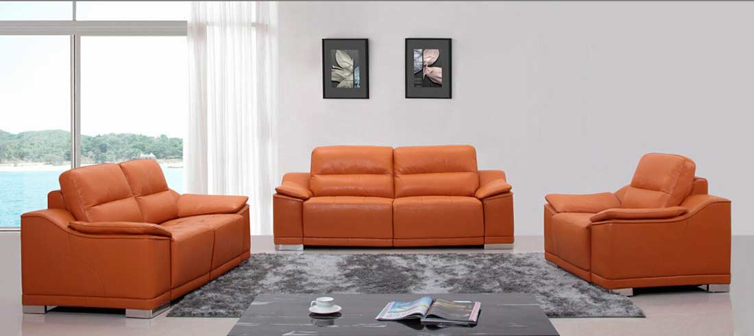 Modern Furniture Za modern top grain italian leather sofa set vg63 | leather sofas
