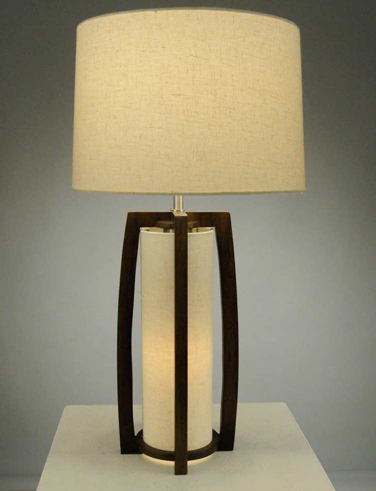 Elegant Pecan Table Lamp NL177