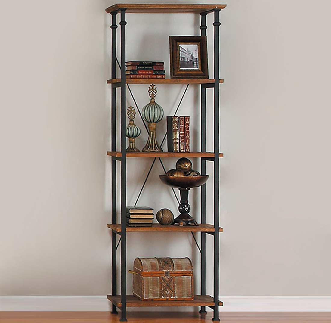 Bookcase Burnished Rustic Wood He228 Office Bookcases