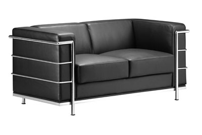 Contemporary Furniture Sofas on Black Contemporary Leather Sofa   Fortune   Leather Sofas