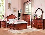 Youth Bedroom in Cherry finish