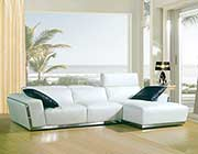 Modern White Bonded Leather sofa VG010C