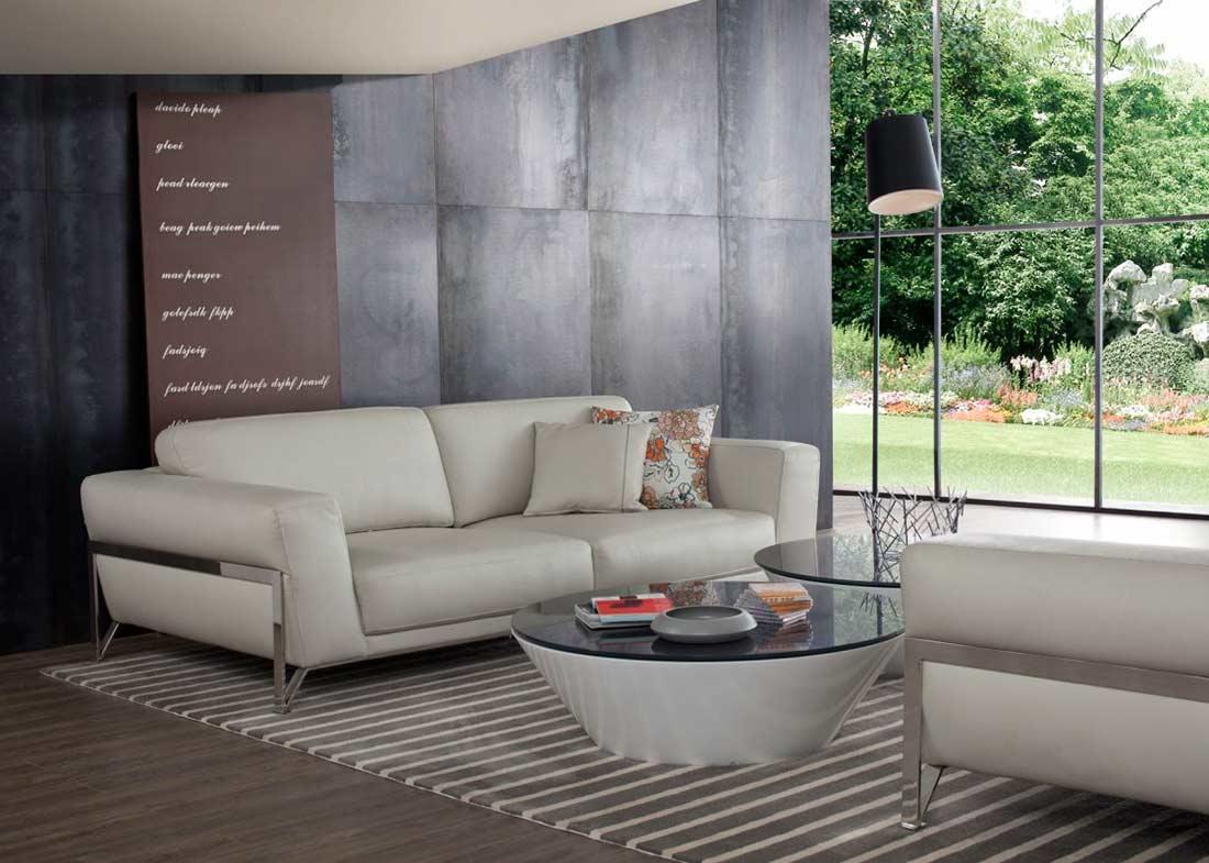 Modern Beige Leather Sofa Set Vg130