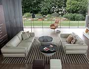 Modern Beige Leather Sofa set VG130
