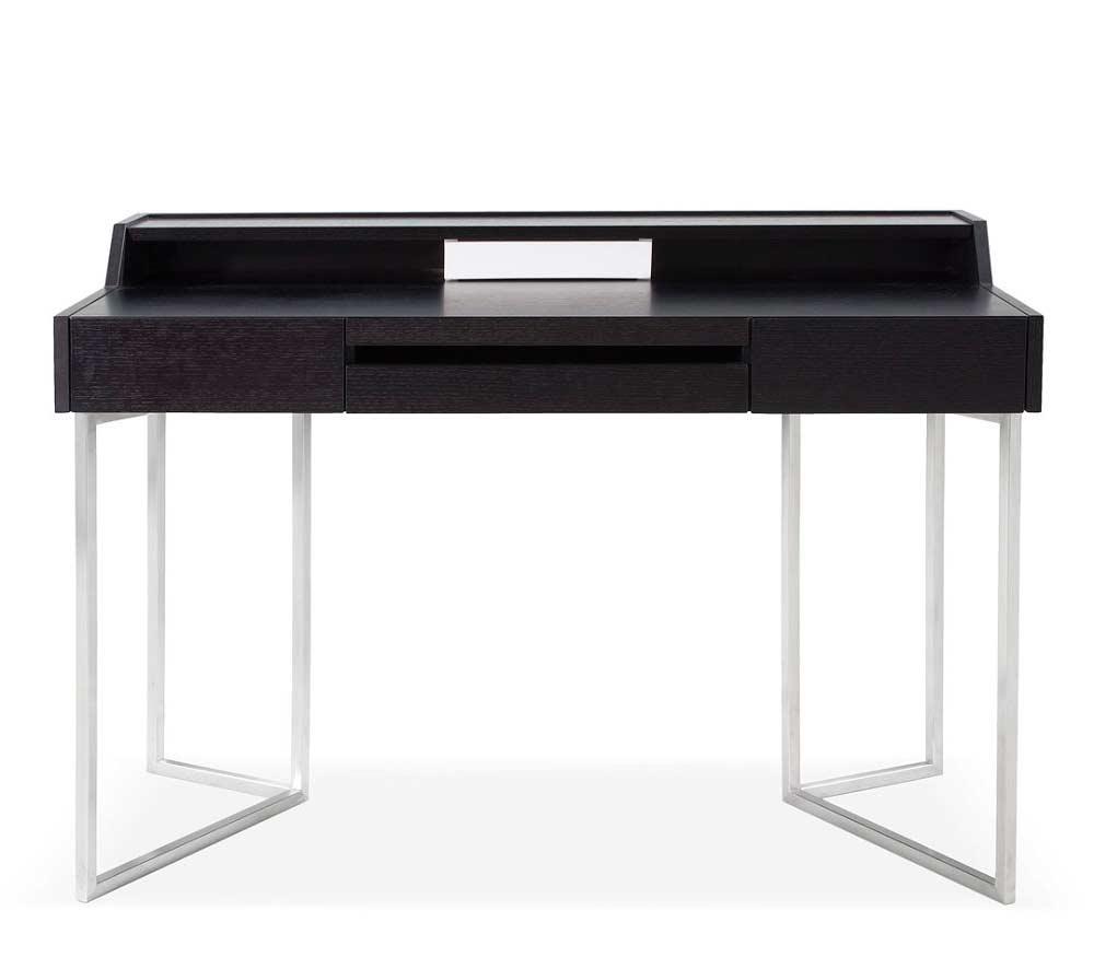 Modern Dark Oak Office Desk Sj16 Desks