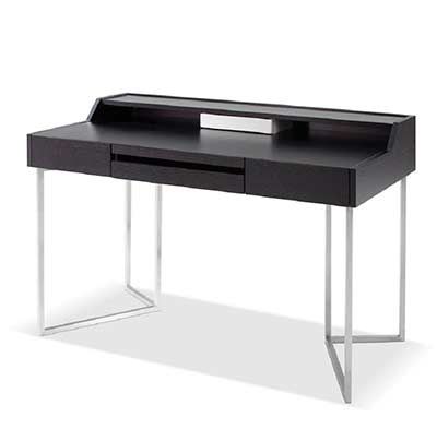 Modern Dark Oak Office Desk Sj16 Desks