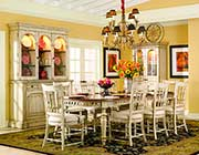 Summerglen Extendable Dining Table in antique white by Hooker Furniture