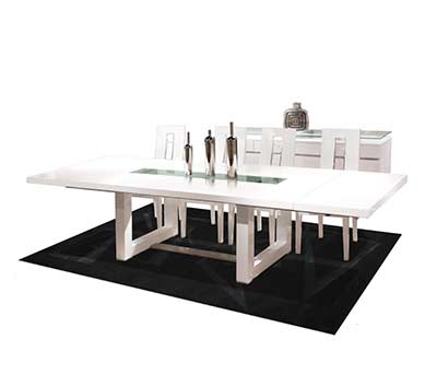 White Lacquer Dining table Nola