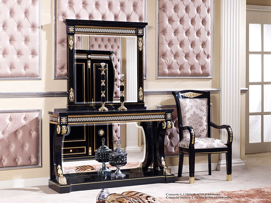 black console table scarlett classic console tables