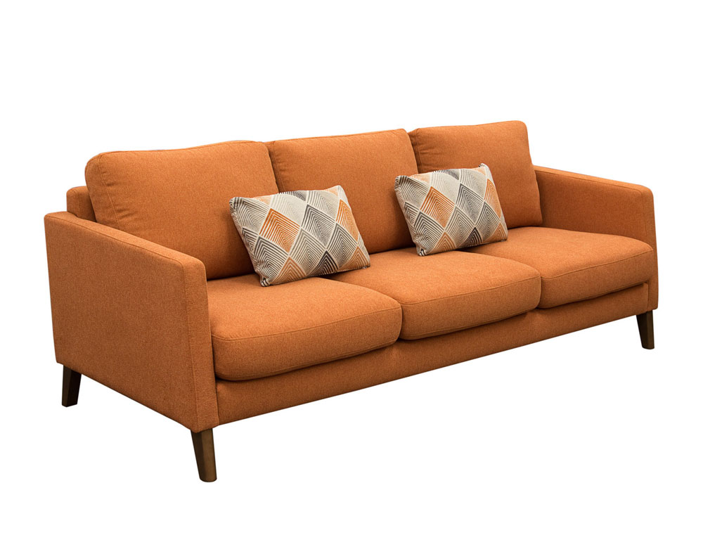 Sunset Collection Orange Fabric Sofa Ds In Store Sale