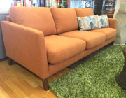 Sunset Collection Orange Fabric Sofa DS