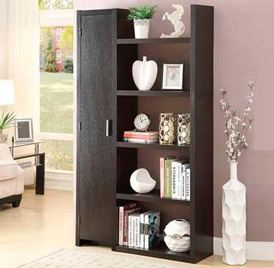 Modern Cappuccino Bookcase CO 626