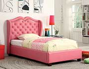 Pink Upholstered Bed FA16