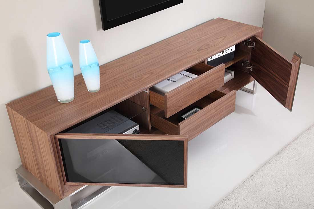Extra Long Modern White TV Stand BM 36