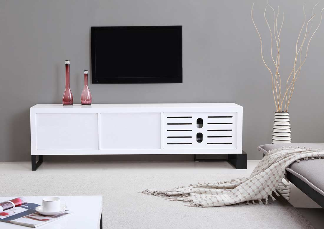Extra long modern white tv stand bm 36 tv stands White tv console